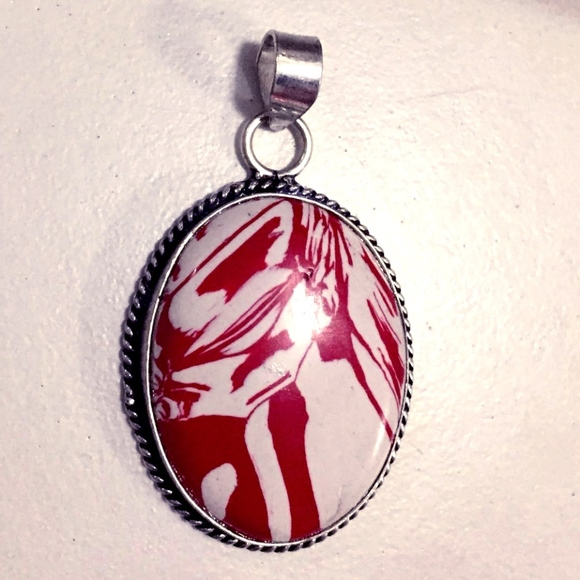Handmade Jewelry - Jasper Hand Made Pendant On A Rope